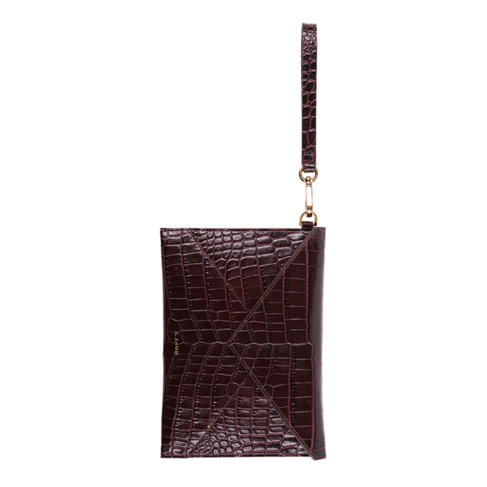 S.Joon Envelope Clutch - Bordeaux Croco