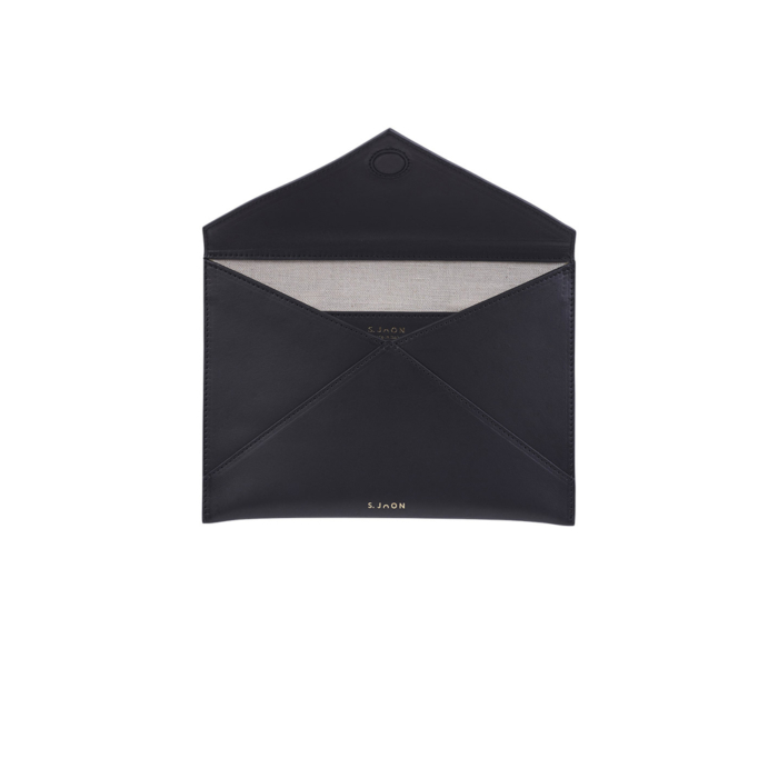 S.Joon Envelope Clutch - Nero