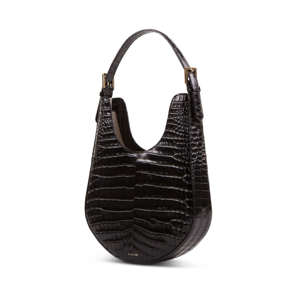 S.Joon Lunar Bag - Black Croc Leather (angle)