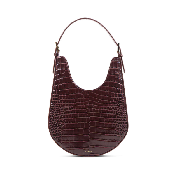 S.Joon Lunar Bag - Bordeaux Croc Leather