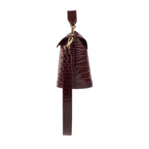 S.Joon Milk Pail - Bordeaux Croco Leather (side)