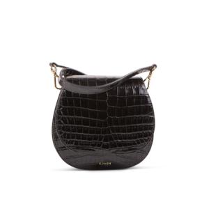 S.Joon Mini Saddle Bag - Nero Croc Leather