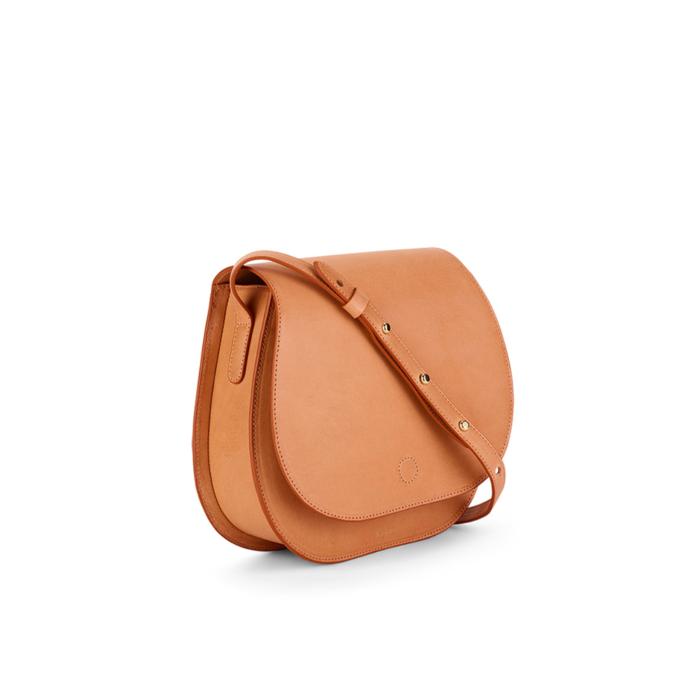 S.Joon Saddle Bag - Cammello (angle)