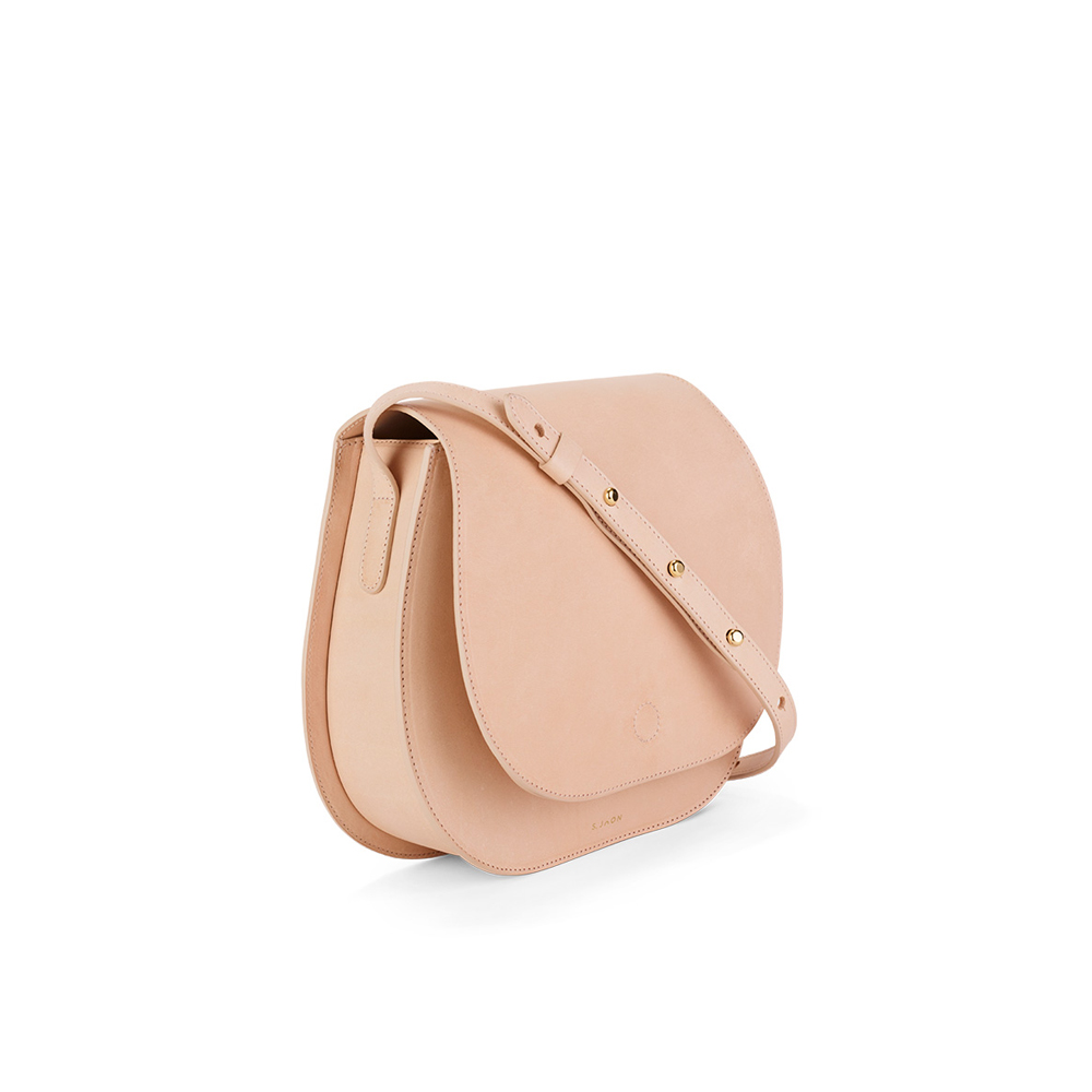 S.Joon Saddle Bag - Crema (angle)