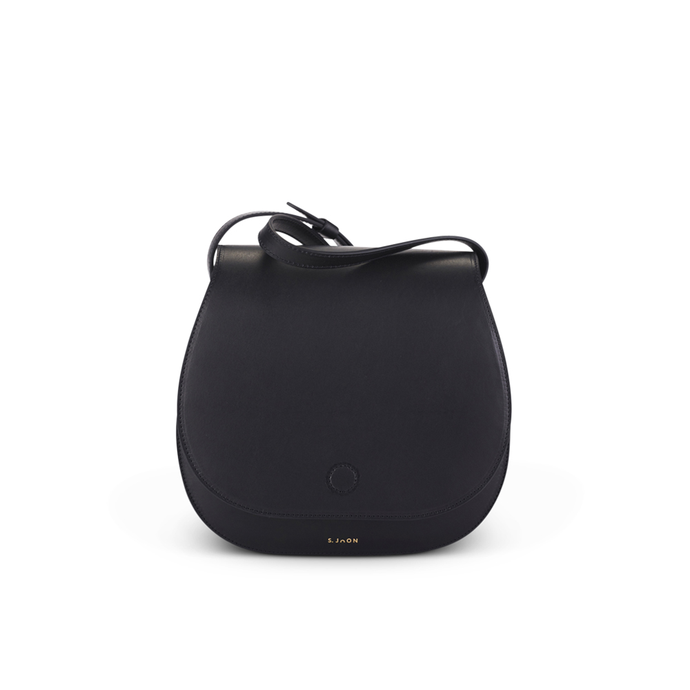 S.Joon Saddle Bag - Nero (front)