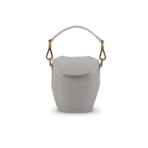 Mini Milk Pail White Croco Front