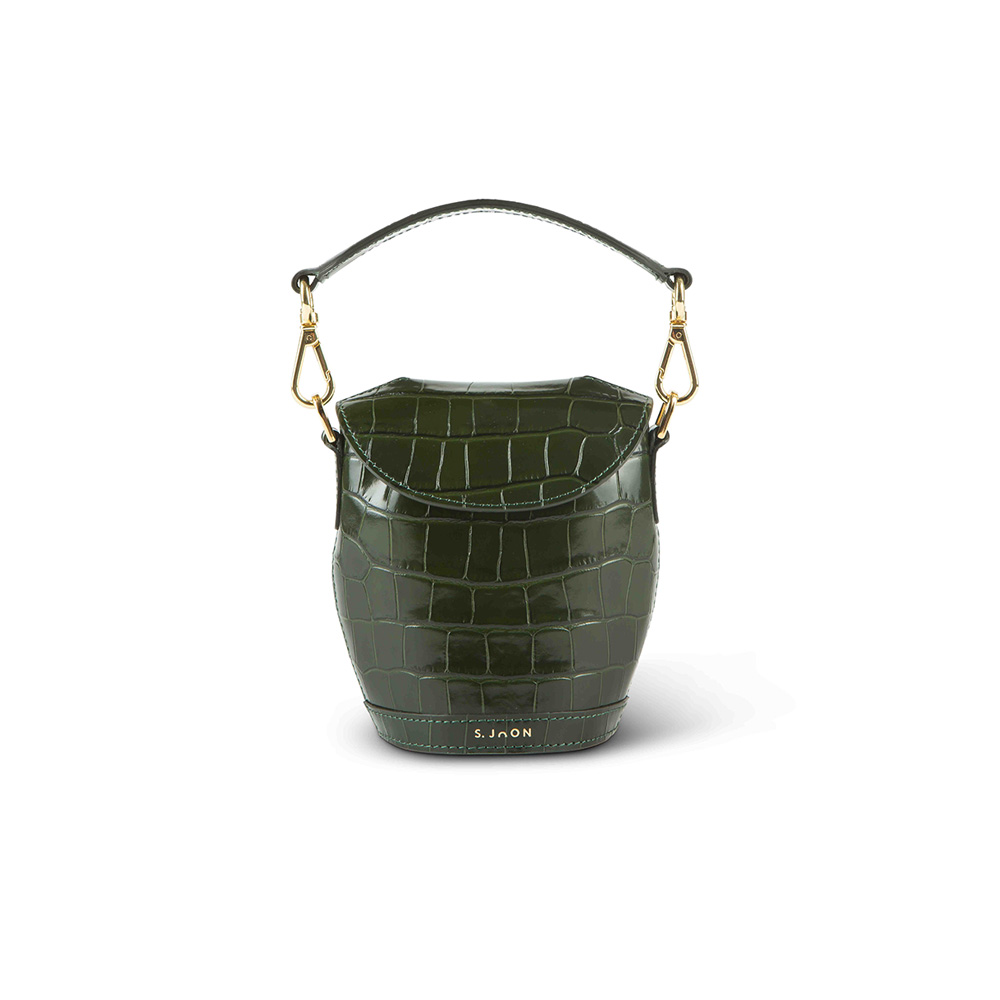 SJOON Evergreen croco mini milk pail front