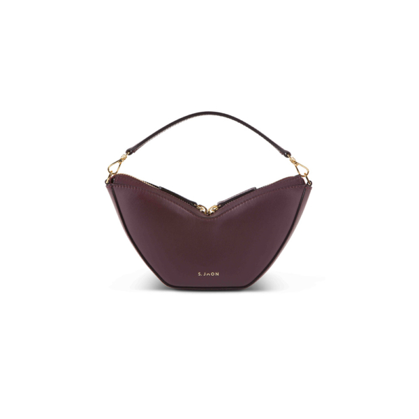 S.JOON Wine Calf Leather Mini Tulip