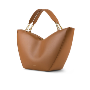 tulip tote walnut side